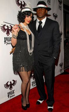 Hallowen Costume Couples Kim Kardashian & Reggie Bush from Best Celebrity Halloween Costumes Harlem Nights Outfits, Harlem Nights Theme Party, Night Outfits, Costume Halloween, Halloween Costumes Pictures, Halloween 2019, Bonnie And Clyde Halloween Costume, Gatsby Costume, Pretty Halloween