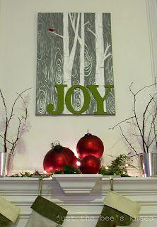DIY art for Christmas decor