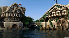 Minecraft Castle Render mathieu legault cinema 4d the chunk reinhart