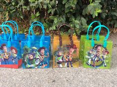 Toy Story Favor Bags This listing includes 12 favor Bags 3 of each desing . Toy Story Theme, Toy Story 3, Toy Story Party, 3rd Birthday Parties, Birthday Party Favors, Boy Birthday, Cumple Toy Story, Festa Toy Story, Toy Story Birthday Cake
