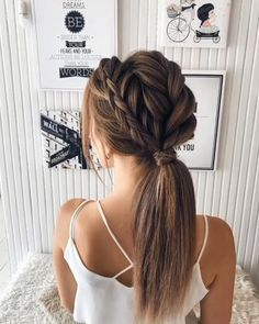 styles for wedding down hairstyles indian videos Braid Ponytail Bridal Hairstyle Idea Indian Bridal Hairstyles, Bride Hairstyles, Cute Hairstyles, Dinner Hairstyles, Gorgeous Hairstyles, Hairstyles Videos, Braided Hairstyles For Wedding, Messy Ponytail Hairstyles, My Hairstyle