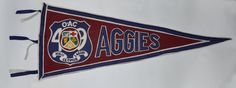 Genuine Vintage Original Felt Pennant for the Ontario Agricultural College, 1949 by AntiquesForMen on Etsy