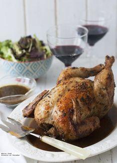 Pollo asado al estilo Robuchon Pollo Chicken, Oven Chicken, Baked Chicken, Chichen Recipe, Capon Recipe, Gourmet Recipes, Healthy Recipes, Vegetable Prep, Meat Lovers