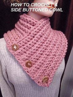 Crochet baby scarf pattern link new ideas Bonnet Crochet, Crochet Beanie, Crochet Shawl, Crochet Baby, Knit Crochet, Crochet Buttons, Free Crochet, Knitted Shawls, Crochet Scarves