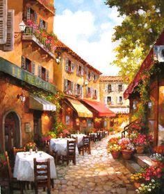 The Art of Paul Guy Gantner  Cafe du Jour