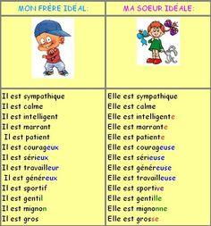 Le féminin des noms et des adjectifs