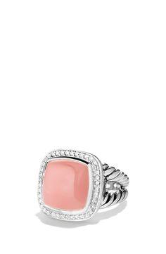 Loving this David Yurman ring that sparkles with a guava quartz stone and diamonds.