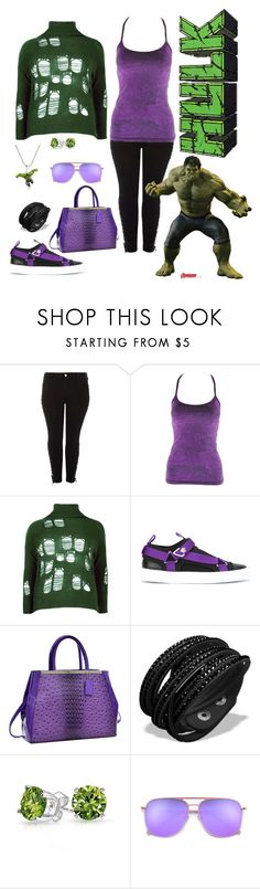 """""""Hulk Smash"""" by susistyle ❤ liked on Polyvore featuring River Island, Lucy, Boohoo, Versace, Dasein, Marvel Comics, Marvel and Bling Jewelry"""