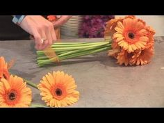 How to arrange gerbera daisies in a bouquet