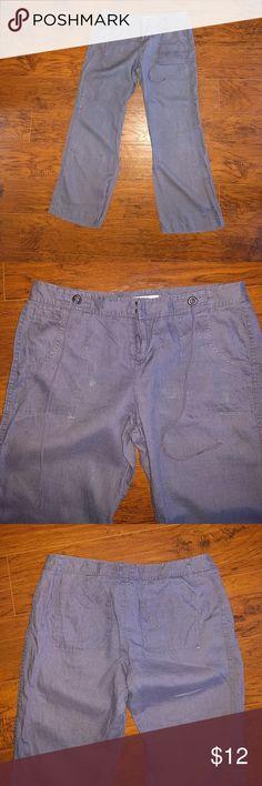 Lauren Conrad linen pants A blue gray pair of linen pants lauren conrad Pants