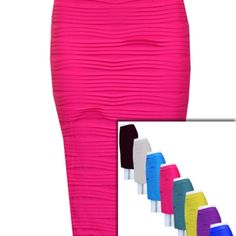 www.holyadornment.com Plus Size One Size Fits All Horizontal Textured Pintuck Tight Comfortable Fit Strapless Tube Dress or Midi Pencil Skirt available in 14+ Colors #PlusSize #OneSizeFitsAll #Horizontal #Textured #Pintuck #Tight #ComfortableFit #Strapless #Tube #Dress or #Midi #Pencil #Skirt