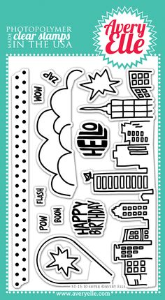 #AveryElle #CHA Super Clear Stamp Set                                                                                                                                                      More
