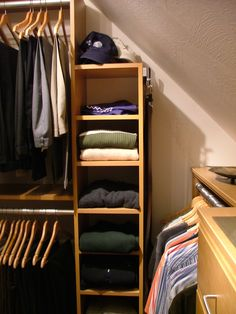 Hereu0027s A Closet With A Sloped Ceiling. Slanted Ceiling Closet, Sloped  Ceiling, Angled