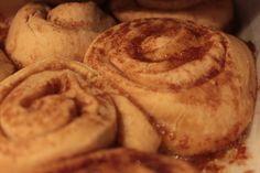 Cinnamon roll en el horno