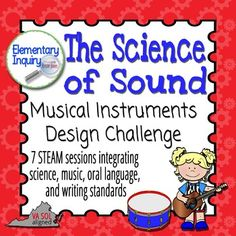 A STEAM or STEM mini-unit that integrates science, music, oral language, and writing standards. Sound concepts focus on pitch and volume.Zip file contains two .pdf files.In these seven sessions, students will:---analyze pitch and volume as properties of sound---use the engineering and design process to create their own instruments (You will need to provide recyclable materials and tools for construction.)---use their instruments to write and perform a short musical composition---present…