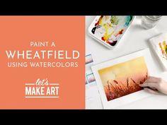 Watercolour Tutorials, Watercolor Art Diy, Watercolor Projects, Watercolor Techniques, Watercolor Landscape, Watercolor Flowers, Watercolor Paintings, Watercolors, Let's Make Art