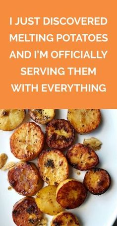 I Just Discovered Melting Potatoes and Im Officially Serving Them With Everything This easy cooking method which turns potatoes into creamy caramelized coins is a Pinter. Potato Side Dishes, Veggie Dishes, Vegetable Recipes, Food Dishes, Vegetarian Recipes, Good Side Dishes, Roast Dinner Side Dishes, Roast Chicken Dinner Sides, Easy Vegtable Side Dishes