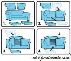 Un pomeriggio dedicato ai più piccoli? Ecco le istruzioni per costruire un fortino, con un divano ArredissimA ovviamente!  Buon divertimento... anche ai più grandi!