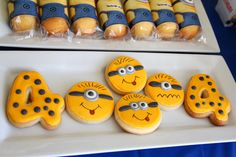 Adorable Minion cookies at a Despicable Me birthday party!  See more party ideas at CatchMyParty.com!