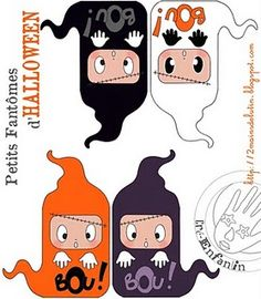 Be creatif for your Halloween decoration. Ideas from the French blog CréEnfantin.
