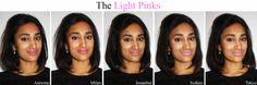Love Naheeda: NYX SOFT MATTE LIP CREAM SWATCHES - Light Pinks Nyx Cosmetics Lipstick, Lipstick Swatches, Lipsticks, Nyx Soft Matte Lip Cream, Olive Skin, Tan Skin, Eyeshadow Looks, Beauty Bar, Lip Colors