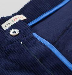 Pantalon Velours Bleu Marine Erotokritos en vente chez L'Exception