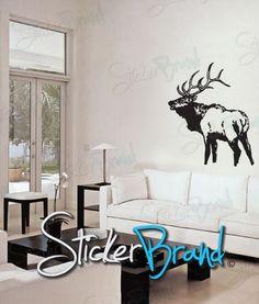 Vinyl Wall Decal Sticker Elk Deer by Stickerbrand on Etsy, $39.95