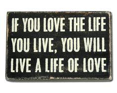 love the life wall art