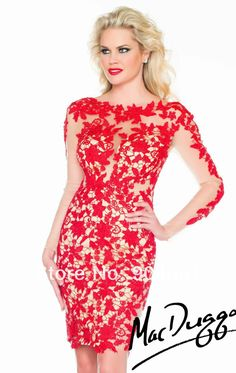 Online Get Cheap Red Lace Cocktail Dress Elegant -Aliexpress.com