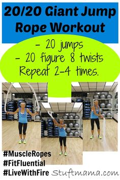 Giant Jump Rope Workout #FitFluential from Muscle Ropes