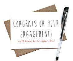 EngagementCard  Herzlichen Glückwunsch zu Ihrer von SimplyCBoutique, $4.00