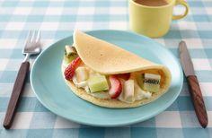 チーズクリームとフルーツのパンケーキサンド | お酒にピッタリ!おすすめレシピ | サッポロビール