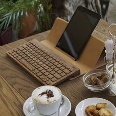 This  keyboard was carved and crafted from pure maple wood.
