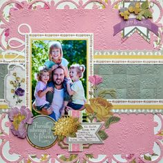 anna griffin my pieces of time layout | anna griffin embossing folders--romantic set