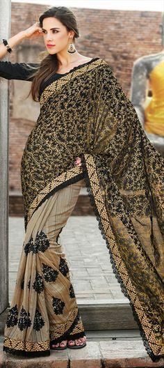 133634: #Silksaree #black #embroidery