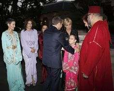 French President Emmanuel Macron and his wife, Brigitte Trogneux, joined King Mohammed VI for an Iftar meal at the King Palace in Rabat, Morocco, on Wednesday night. French President Wife, Roi Mohamed 6, Lalla Salma, French First Lady, Presidents Wives, Brigitte Macron, Catherine Deneuve, Marrakech, Morocco