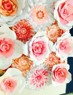 A personal favorite from my Etsy shop https://www.etsy.com/listing/211830365/paper-flower-wall-decor-for-party-photo