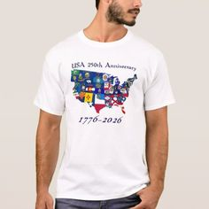 USA 250th Anniversary State Flags T-Shirt  $19.95  by USA250th  - cyo customize personalize diy idea