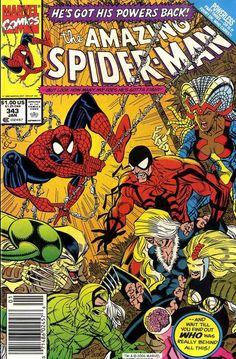 The Amazing Spider-Man #343, January 1991, cover by Erik Larsen and Terry Austin