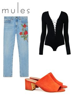 """""""Mules 1"""" by hepburncouture on Polyvore featuring mode, Tory Burch, Gucci et T By Alexander Wang"""