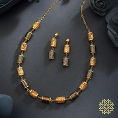 Give your regular day out attires a colorful makeover with trendy designs. Gold Mangalsutra Designs, Gold Earrings Designs, Gold Jewellery Design, Mens Gold Jewelry, Gold Jewelry Simple, Gold Pendants For Men, Gold Accessories, Gold Set, Colorful