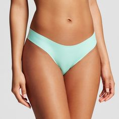Women's Laser Cut Thong Strobe Green XS - Xhilaration
