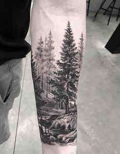 Tatoo, mountain sleeve tattoo, forrest tattoo, tattoo arbre, tattoo a Mountain Sleeve Tattoo, Forest Tattoo Sleeve, Black Sleeve Tattoo, Nature Tattoo Sleeve, Full Sleeve Tattoos, Tattoo Nature, Awesome Sleeve Tattoos, Forest Forearm Tattoo, Space Tattoo Sleeve