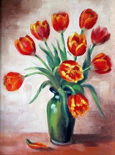 Spring Tulips Painting  - Spring Tulips Fine Art Print