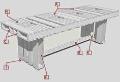 Muebles de Palets: Instrucciones para hacer una mesa con palets para el comedor
