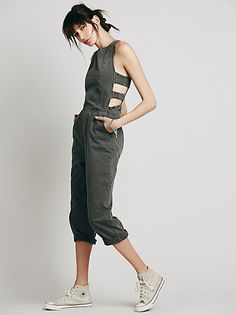 Free People Decca Chambray Jumpsuit at Free People Clothing Boutique
