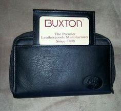 Buxton womens black genuine leather wallet black 2 zippers Nwot. BIN $18 Free shipping OBO+shipping