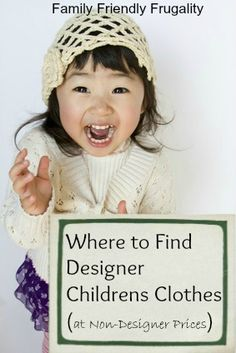 Where to Find Designer Childrens Clothes (at Non-Designer Prices)