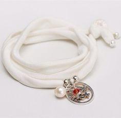Image of elastisches Seidenarmband