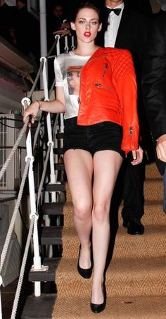 Kristen Stewart Shows Off Her Long Angry Legs
